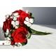Svadobná kytica - červené ruže