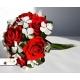 Svadobná kytica zo stabilizovaných ruží, vhodná alternatíva k látkovým kyticiam