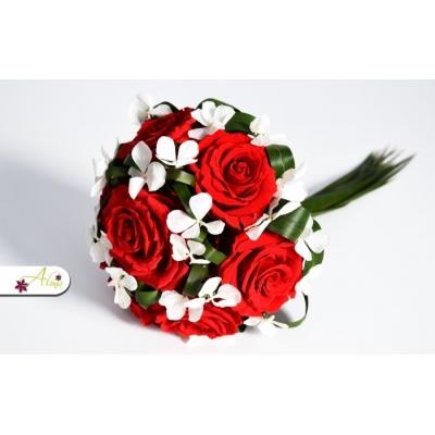 Svadobná kytica ruže