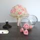 Romantická svadobná kytica z ruží a hortenzií