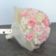 Impregnovaná svadobná kytica ružová, smatanová