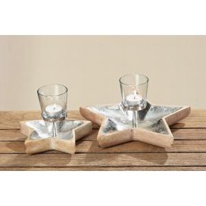 Svietnik na čajovú sviečku v tvare hviezdy