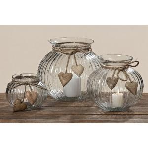 Rustikálny svietnik alebo váza
