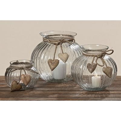 Rustikálny sklenený svietnik alebo váza