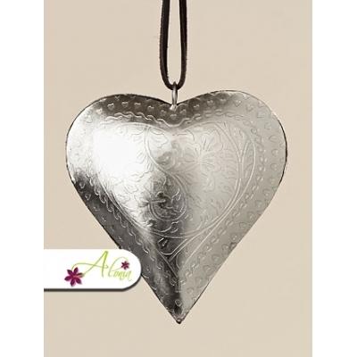 Plechové srdce - závesná dekorácia