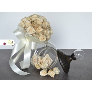 Svadobná kytica z ruží