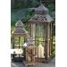 Romantický drevený lampáš - malý