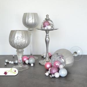 Set sklenených svietnikov