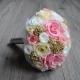 Látková svadobná kytica alebo zo stabilizovaných kvetov