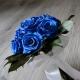 Svadobná kytica z modrých stabilizovaných ruží