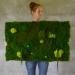 Machový obraz zo stabilizovaných rastlín na stenu