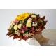 Jesenná svadobná kytica so stabilizovanou slnečnicou