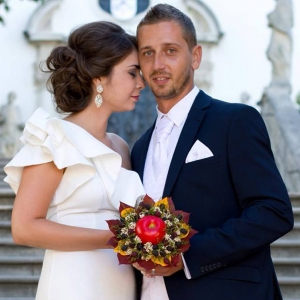 Netradičná jesenná svadobná kytica