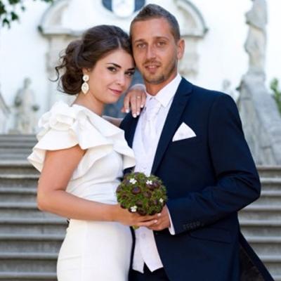Netradičná svadobná kytica z gaštanov