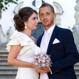 Jesenná svadobná kytica zo stabilizovaných kvetov