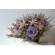 Svadobná kytica z fialových a ružových ruží - nezvädne