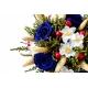 Svadobná kytica s modrými ružami