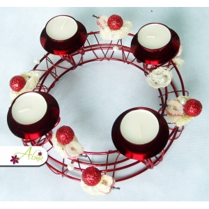 Adventný veniec na čajové sviečky