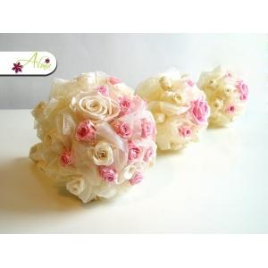 Svadobný set zo stabilizovaných ruží