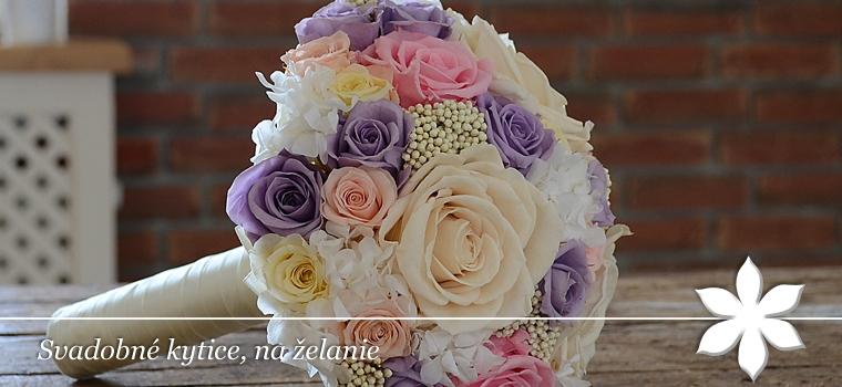 Svadobné kytice pre nevestu